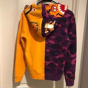 179e24a1 Bape Tops | Color Camo Tiger Shark Half Full Zip Hoodie | Poshmark